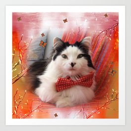 The Oreo Cat: Spring Art Print