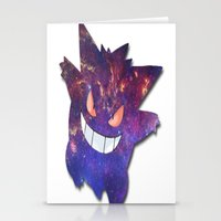 gengar Stationery Cards featuring Galaxy Gengar by Visual Declaration