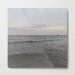 Distant Lighthouse on Lake Michigan Metal Print