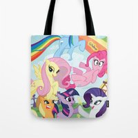 my little pony Tote Bags featuring My Little pony by Paul Abstruse