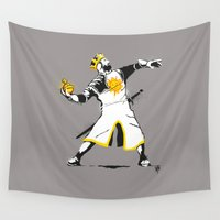banksy Wall Tapestries featuring Banksy Python 1-2-5 by kgullholmen