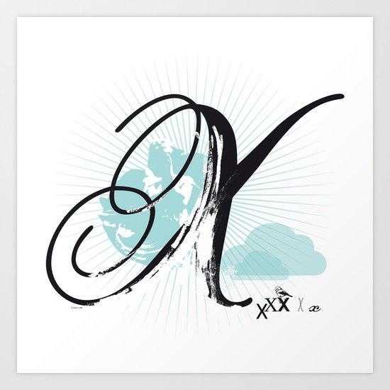 X like Xmas… Art Print