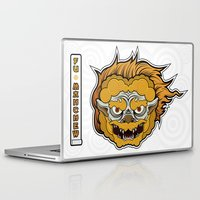 foo fighters Laptop & iPad Skins featuring Foo Manchew by Laz Llanes