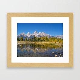 The Snake River and the Tetons Framed Art Print