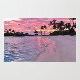 SUNSET AND PALM TREES Rug