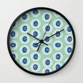 Evil Eye Charm - Hemlock  Wall Clock