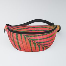 COLORFUL TROPICAL LEAVES no4B Fanny Pack