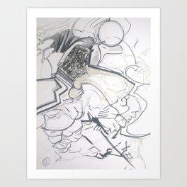 space barbarian Art Print