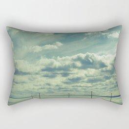 Empty beach Rectangular Pillow