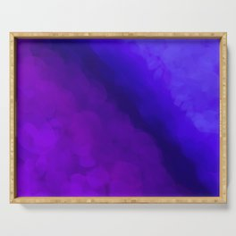 Deep Dark Abyss - Ultra Violet Ombre Abstract Serving Tray