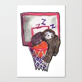 sloth playing basket Canvas Print