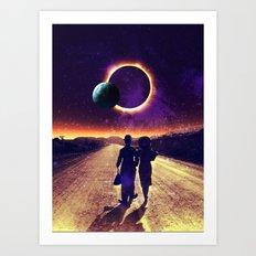 walking to the sun Art Print