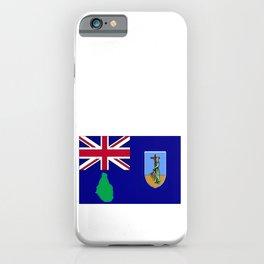 Montserrat Flag with Map of Montserrat iPhone Case