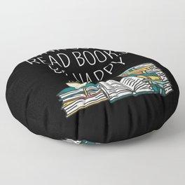 Drink Coffee Read Books Be Happy II Floor Pillow