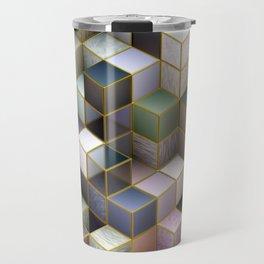 Cubes in Pastels Travel Mug