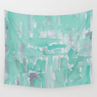 aqua Wall Tapestries featuring Aqua by Georgiana Paraschiv
