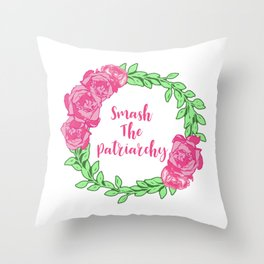 Smash The Patriarchy Throw Pillow