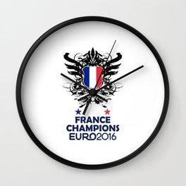 France Uefa Euro 2016 Wall Clock