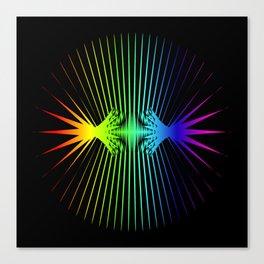 Sound Waves. Neon dark matter wave oscillations Canvas Print