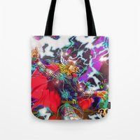 thor Tote Bags featuring Thor by Artless Arts