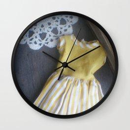 Yellow Dress TTV Wall Clock