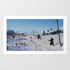 very severe winter... Art Print