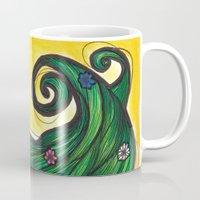 flora Mugs featuring Flora by Melanie Arias