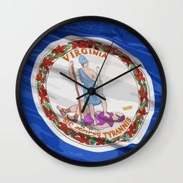 Virginia Fancy Flag Wall Clock