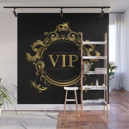 VIP In Black and Goldtone Wall Mural