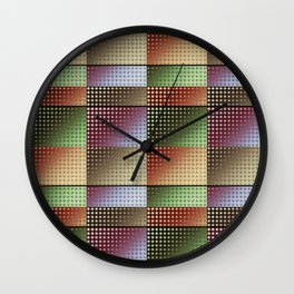 Colourful Collage Pattern Wall Clock