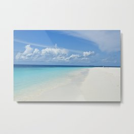 The Maldives' Blue Metal Print