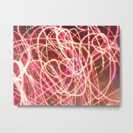 corazón luz Metal Print