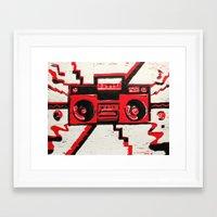 radio Framed Art Prints featuring RADIO  by Cyn Art