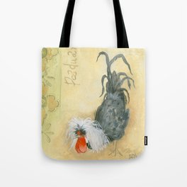 Tuscan Rooster Black Tote Bag