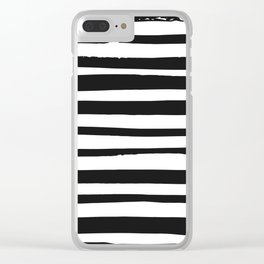 STRIPE BW Clear iPhone Case