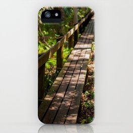 Forrest walkway iPhone Case