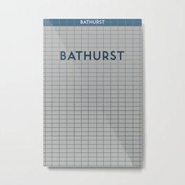 BATHURST | Subway Station Metal Print