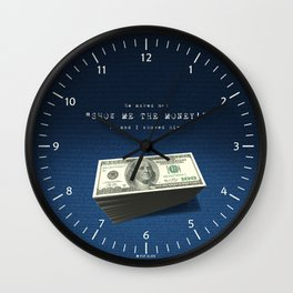 Show Me The Money - USD on Jeans Wall Clock