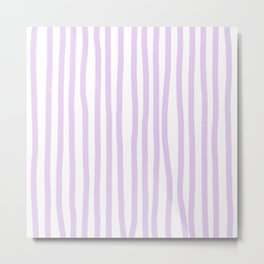 Lavender Stripes Metal Print