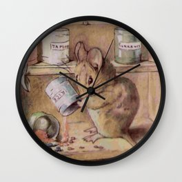 Naughty little mouse! Wall Clock