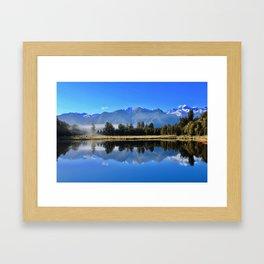 Morning Reflections at Lake Matheson Framed Art Print