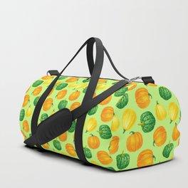 Pumpkins watercolor pattern Duffle Bag
