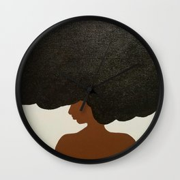 Afro Love Wall Clock
