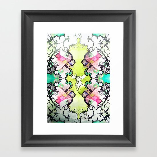 Kaleidoscope Deer Framed Art Print