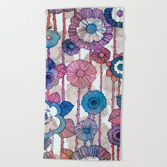 Hanging Flower Garland Beach Towel