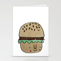 burger Stationery Cards featuring Burger by Tuesday Logan