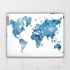 World map in watercolor. Laptop & iPad Skin