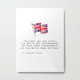 Victor Hugo quote MiNimal Metal Print