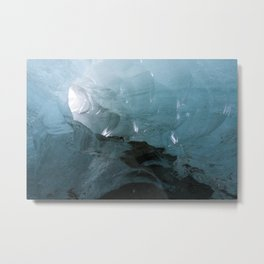 Ice Cave at Vatnajökull Metal Print