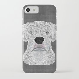 White Boxer iPhone Case